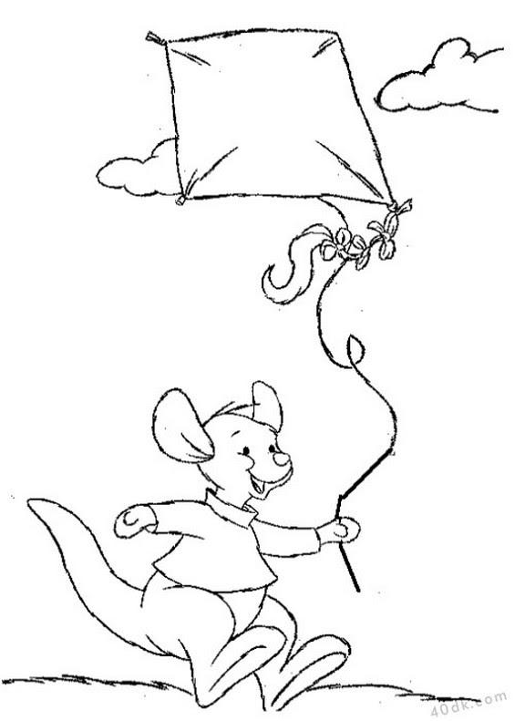40dkcom Kanguru Uçurtma Boyama Sayfası 247 40dk Eğitim