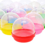 150-Pack 2-Inch Vending Machine Capsules Gumball Containers, Assorted Colored Lids