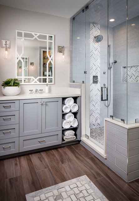 Lago Di Grata Circle - Transitional - Bathroom - san diego - by Tracy Lynn Studio