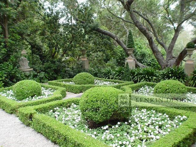 Italian - French Parterre Garden - Traditional - Landscape - los ...