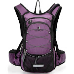 Alta Camel Pack Thermal Insulated Hydration Backpack 2L Water Bladder Purple