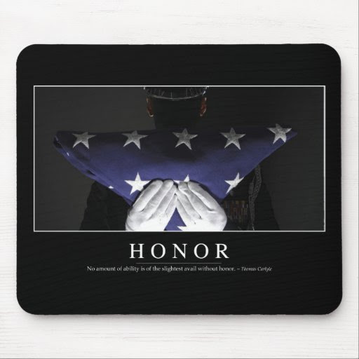 Honour: Inspirational Quote Mouse Pad  Zazzle