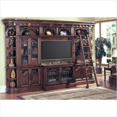 Barcelona Deluxe Bookcase Entertainment Center