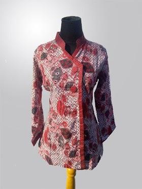Sketsa Baju Batik Atasan Wanita