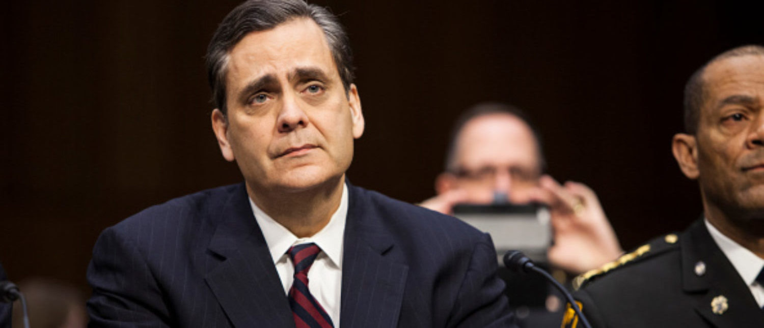WASHINGTON, DC - JANUARY 29:  Prof. Jonathan Turley testifies at the confirmation hearing for Loretta Lynch to replace U.S. Attorney General Eric Holder by the Senate Judiciary Committee at the U.S. Capitol in Washington, D.C. on January 29, 2015. The Judiciary Committee is hearing testimony from witnesses on the second day of hearings. (Photo by Samuel Corum/Anadolu Agency/Getty Images)