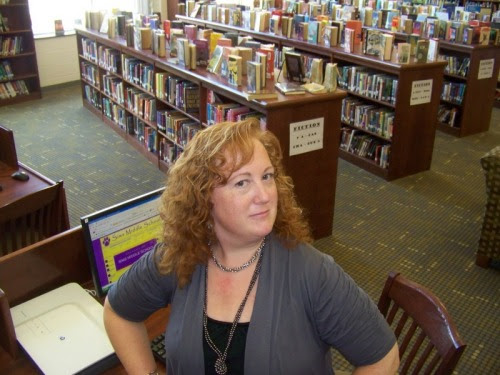 Middle School Teacher-Librarian Jennifer Tazerouti is ready to assist students and teachers with their information and technology needs at Sims Middle School in Union, South Carolina. Check out the SMS Library Blog at: http://checkingoutbooks.blogspot.com/ The librarian also keeps a professional blog at: www.auntielibrarian.com