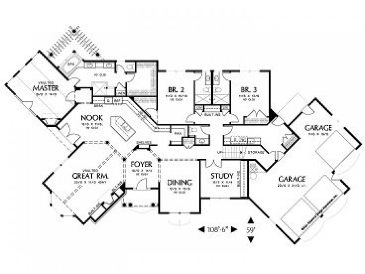 House Floor Plans with Angled Garage House Floor Plans