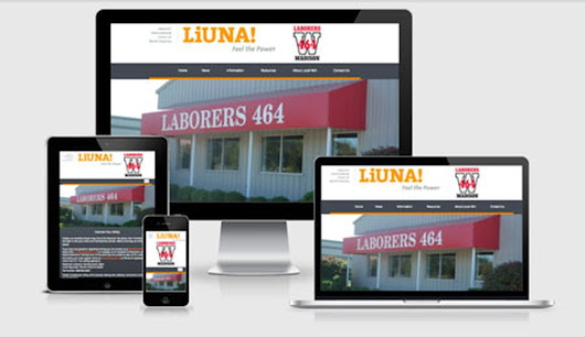 Virtual Vision recently launched a new website for Laborers' Local 464