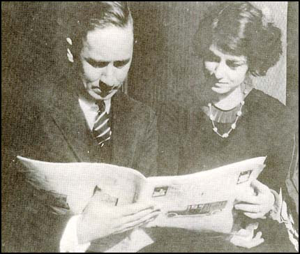 Robert Benchley and Dorothy Parker in 1919.