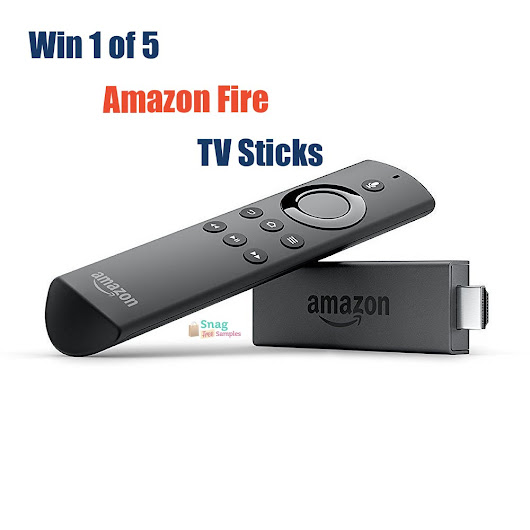 Enter to win 1 of 5 Amazon Fire TV Sticks from Snag Free Samples