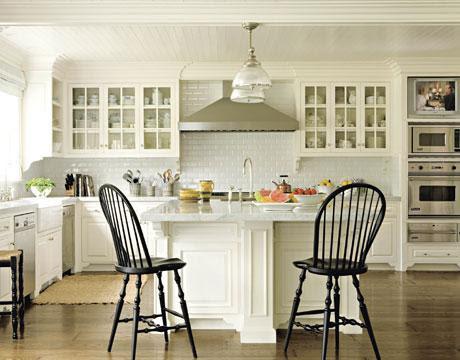 Windsor Bar Stool - Cottage - kitchen - Benjamin Moore Grand Teton
