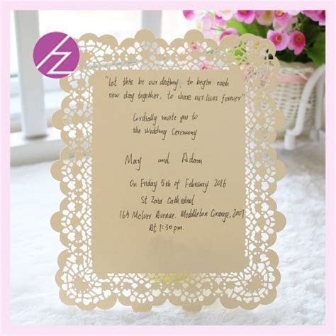 Flower Embossed Invitations cards New Elegant with words