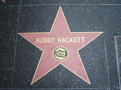 Buddy Hackett's star on the Hollywood Walk of Fame