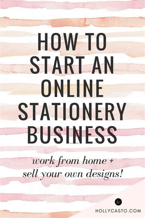 How to Start a Stationery Business Selling Your Own