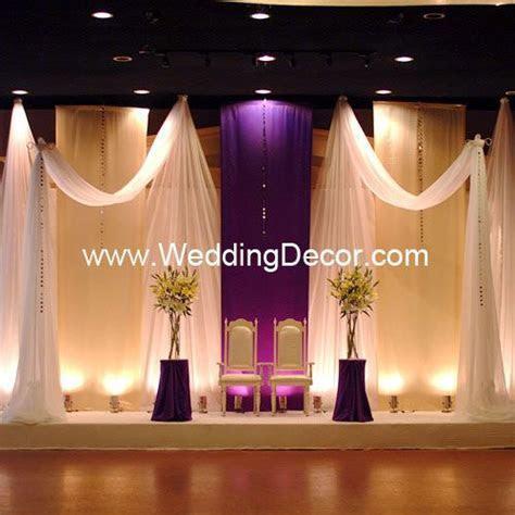 Wedding Backdrop Flat Backdrop   Purple and ivory panels