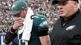 Carson Wentz ruled out for final quarter of pivotal game against Rams | NFL | Sporting News