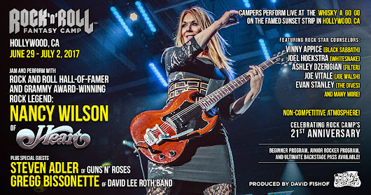 Heart | Nancy Wilson | Music | Events | Bands | Los Angeles | Concerts | Learn to Play | Bucket List | Workshops | Seminars | Classes | Fans | Backstage Pass | Experience | Adults | Teens | Vacations | Hollywood | CA | Best Gift |  | California | Rock and Roll Fantasy Camp