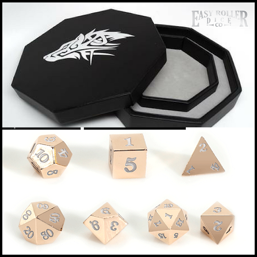 Win This Rose Gold Dice Set + Dice Tray Combo!