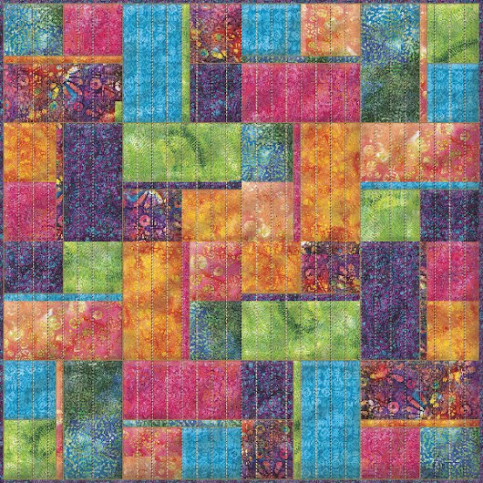 Full Sized Batik Quilt Design