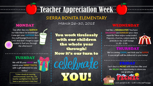 Teacher Appreciation Week Ideas - events to CELEBRATE!