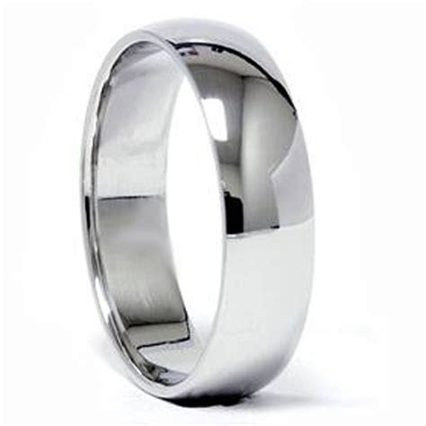 6 mm PLATINUM Dome Women's Wedding Band Ring 1.14mm thick