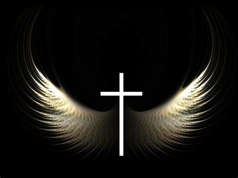 Christian Graphic: Cross and Wings Wallpaper   Christian