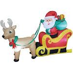 Morris Costumes VA1012 6 ft. Santa on Sleigh Prop