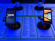 HTC's Titan and Radar; click for full-size image.