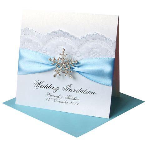 Winter Wedding Invitations ? ?Snowflake? Crystal   Made