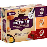 Rachael Ray Nutrish Natural Fish Lovers Variety Pack Wet Cat Food - 12 count, 2.8 oz tubs