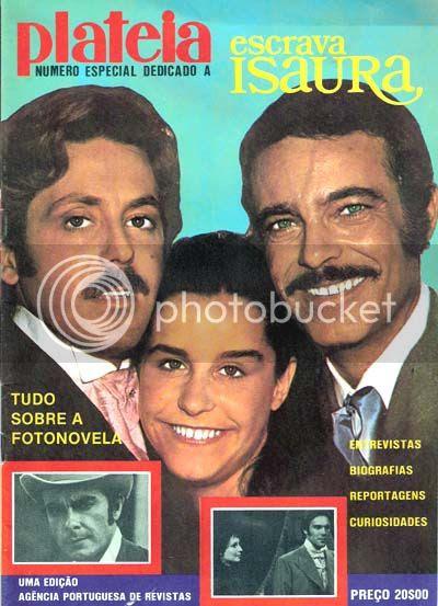 Capa do número especial da Plateia dedicado à telenovela Escrava Isaura, sem data.