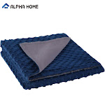"""ALPHA HOME Removable Duvet Cover for Weighted Blanket, Reversible 60""""x80"""" / navy"""