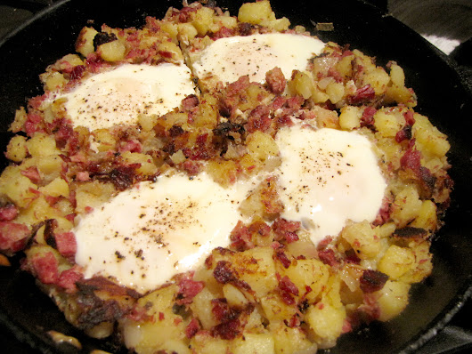 One Pot Meal: Corned Beef Hash and Eggs - Kimversations