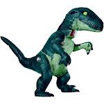 Mens Inflatable Jurassic World: Fallen Kingdom Velociraptor Costume - Size Ns