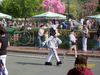 Mickey Parading Down Main Street