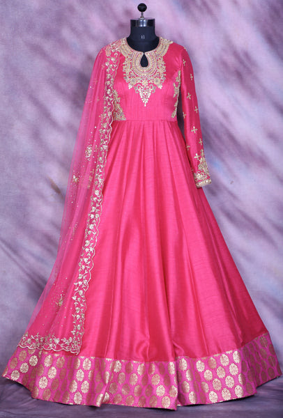Pink Designer Party Wear Dress