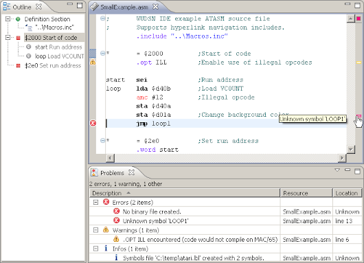 The WUDSN IDE version 1.7.0 has been released. New power for 6502-based development.