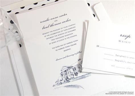 Graceland Skyline Wedding Invitations