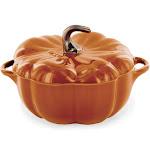 Staub 24 oz. Ceramic Pumpkin Cocotte - Burnt Orange