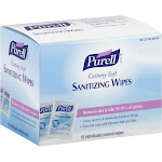 Purell Sanitizing Wipes, Cottony Soft, Refreshing Citrus Scent - 18 wipes