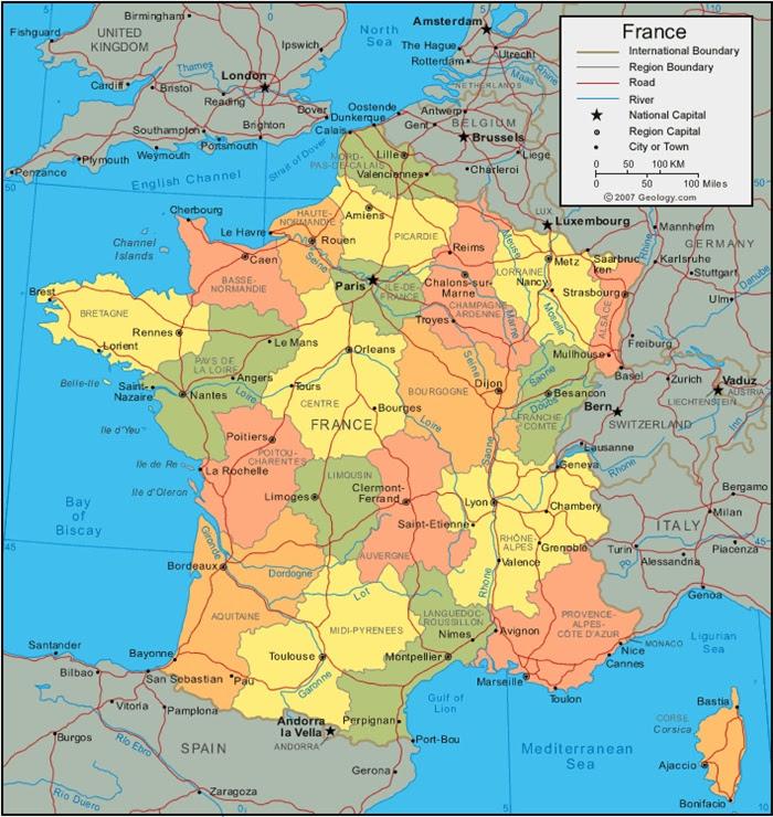 Cartina Fisica E Politica Della Francia.Cartina Fisica Francia Da Stampare Stampae Colorare