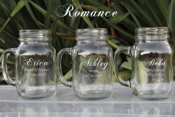 Unique Bridesmaid Gifts Etsy Bridesmaid Gifts 7 Large 21oz Mason