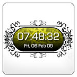 Islamic Digital Clock Widget, Ornamental Button