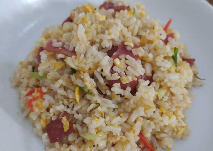 Resep Nasi Goreng Smoked Beef Anti Gagal