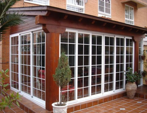 cerramiento acristalado porche de madera