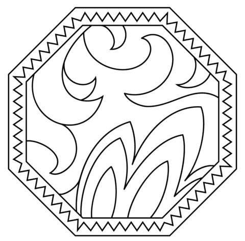 Dibujo De Plato Con Patrón Abstracto Para Colorear Dibujos Para