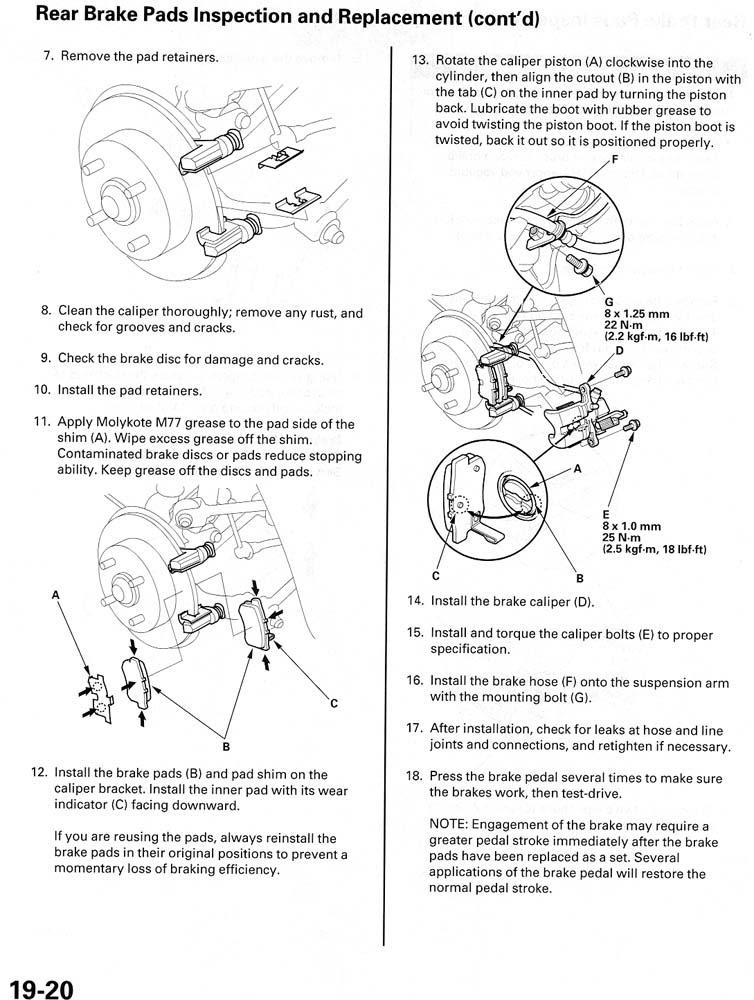 Honda Accord 98 02 Brake Pad Replacement Page 2 Honda Acura Net