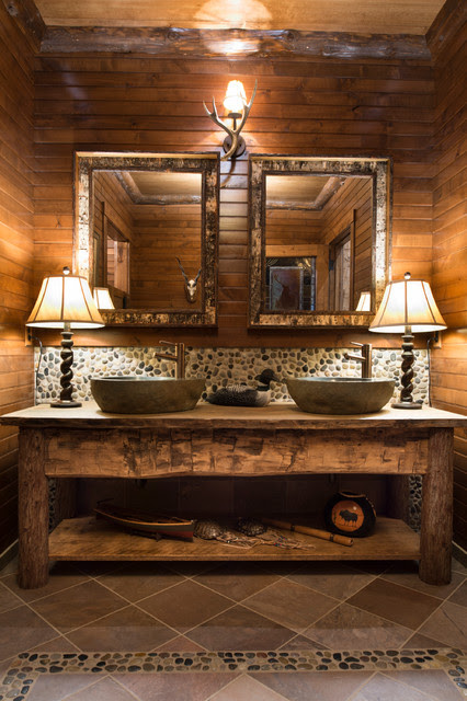 Bathroom - Rustic - Bathroom - minneapolis - by Gabberts Design Studio