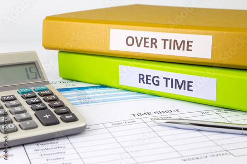 """Daily time record with blank payroll time sheet"""" Stock photo and ..."""