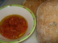 tomato sauce and sourdough bread
